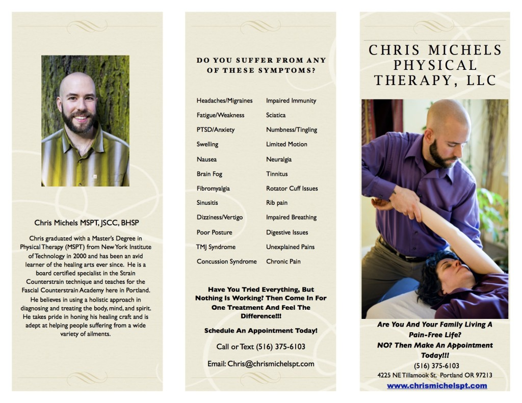 chris michels physical therapy brochure